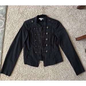 Military style jacket in black size small